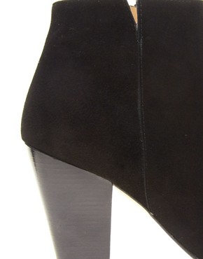 Image 2 ofWhistles Kir Royale Black Suede Ankle Boots