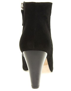 Image 4 ofWhistles Kir Royale Black Suede Ankle Boots