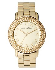 Marc by Marc Gold Diamante Detailed Watch