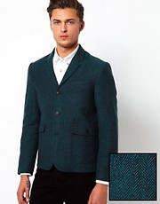 ASOS Slim Fit Blazer in Herringbone.