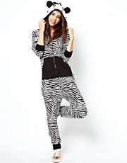 ASOS Onesie In Zebra Style