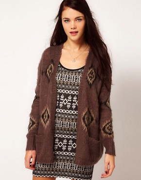 Image 1 of River Island Aztec Coatigan