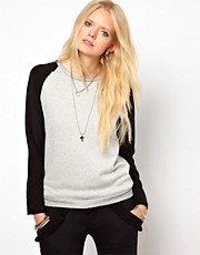 Lna Hutton Silk Sleeve Sweatshirt