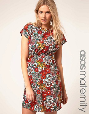 Image 1 ofASOS Maternity Skater Dress In Floral