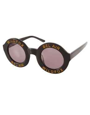 Image 1 ofWildfox Bel Air Round Sunglasses
