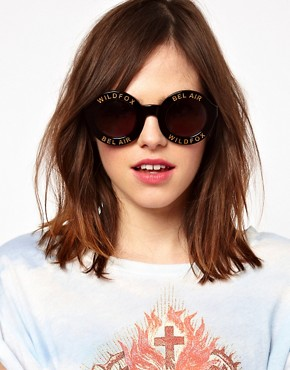 Image 3 ofWildfox Bel Air Round Sunglasses