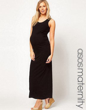 Image 1 ofASOS Maternity Exclusive Maxi Dress In Stretch Fabric