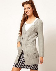 b + ab Cable Knit Cardigan