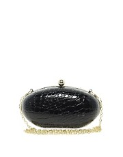 Liquorish Oval Hard Case Clutch Bag