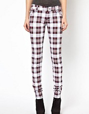 Tripp NYC Tartan Skinny Jeans