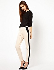 Pantalones con panel en contraste de ASOS Tailored