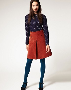 Image 1 ofSessun Bethune Corduroy A Line Skirt