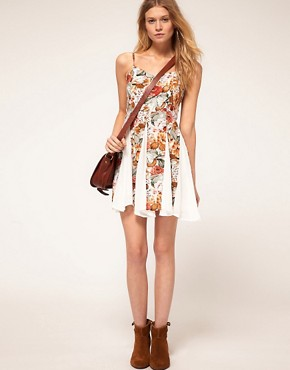 Image 4 ofMinkpink Four Seasons Contrast Godet Dress