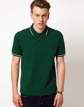 Image 1 ofFred Perry Polo Slim Fit Twin Tipped