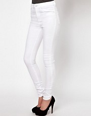 ASOS Ridley Supersoft High Waisted Ultra Skinny Jeans in White