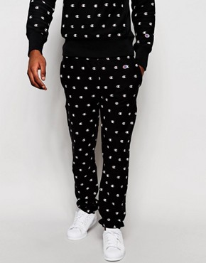 Champion Joggers With All Over Print
