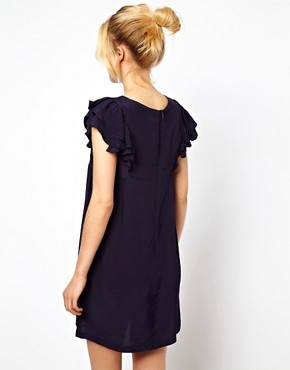 Image 2 ofASOS Shift Dress With Frill Sleeves