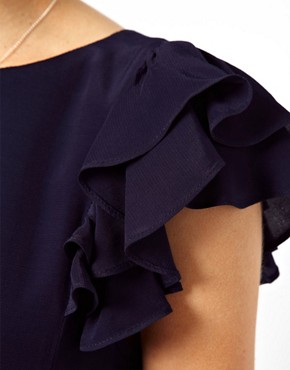 Image 3 ofASOS Shift Dress With Frill Sleeves