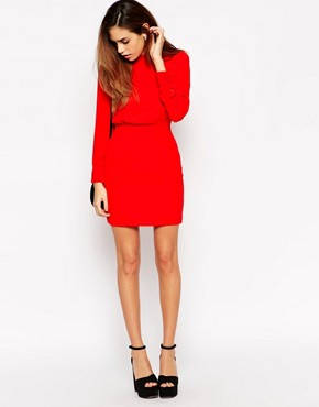 Mini Dress with High Neck by ASOS