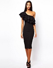 ASOS One Shoulder Ruffle Tube Dress