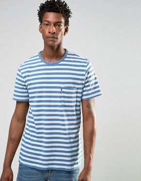 Levi's Sunset Pocket Stripe T-Shirt Indigo