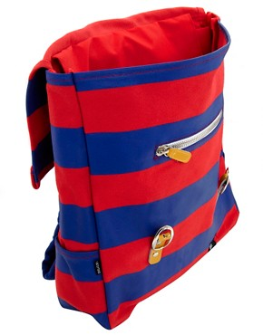 Image 2 ofLazy Oaf Stripe Square Backpack