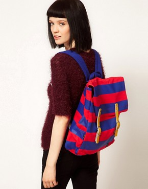 Image 3 ofLazy Oaf Stripe Square Backpack