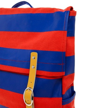 Image 4 ofLazy Oaf Stripe Square Backpack