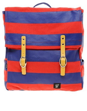 Image 1 ofLazy Oaf Stripe Square Backpack