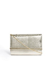 New Look Cecile Metallic Snake Effect Clutch Bag