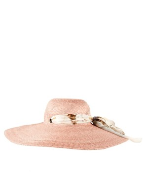 Image 4 of Paul Smith Straw Sun Hat With Dandelion Silk Tie