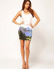 Motel Mountain Mini Skirt