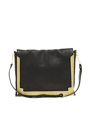 ASOS Leather &amp; Metal Across Body Bag