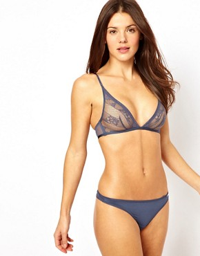 Image 4 ofCalvin Klein Lace &amp; Micro Triangle Bra