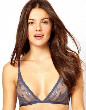 Image 1 ofCalvin Klein Lace &amp; Micro Triangle Bra