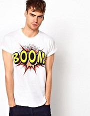 River Island T-Shirt With Boom Print