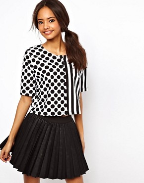 Image 1 ofASOS Top with Spots and Stripes
