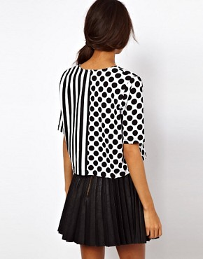 Image 2 ofASOS Top with Spots and Stripes