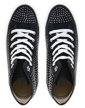 Image 2 ofKG Lennie Studded High Top Trainers