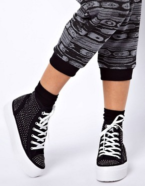 Image 3 ofKG Lennie Studded High Top Trainers