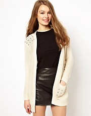 A Wear Studded Edge To Edge Cardigan