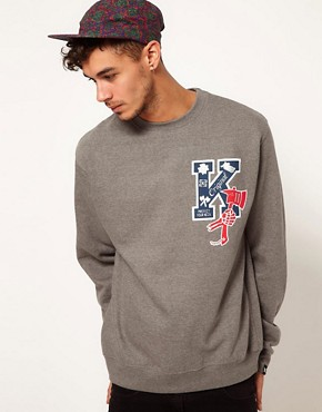 Image 1 ofKr3w Crew Neck Sweatshirt Letterman