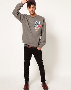 Image 4 of Kr3w Crew Neck Sweatshirt Letterman