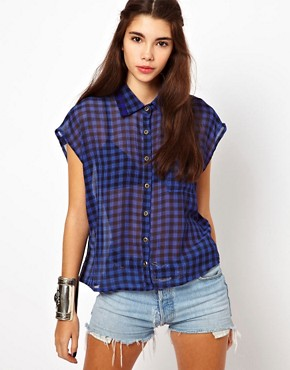 Image 1 ofLucca Couture Check Shirt