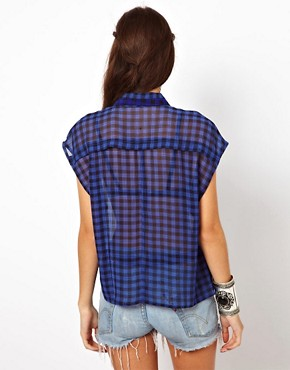 Image 2 ofLucca Couture Check Shirt