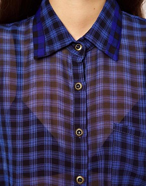 Image 3 ofLucca Couture Check Shirt