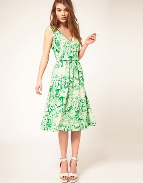 Image 1 ofASOS Midi Dress In Watercolour Print
