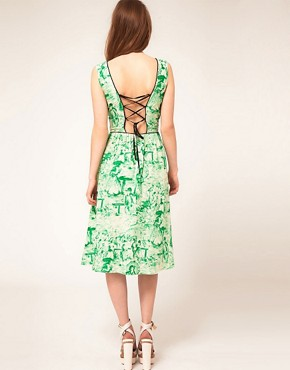 Image 2 ofASOS Midi Dress In Watercolour Print