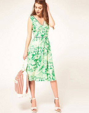 Image 4 ofASOS Midi Dress In Watercolour Print