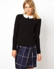 ASOS Jumper With Lace Collar Detail
